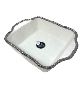 White Porcelain Square Baking Dish