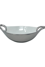 Medium White Porcelain Serving Bowl