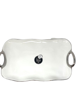 Medium White Porcelain Serving Tray