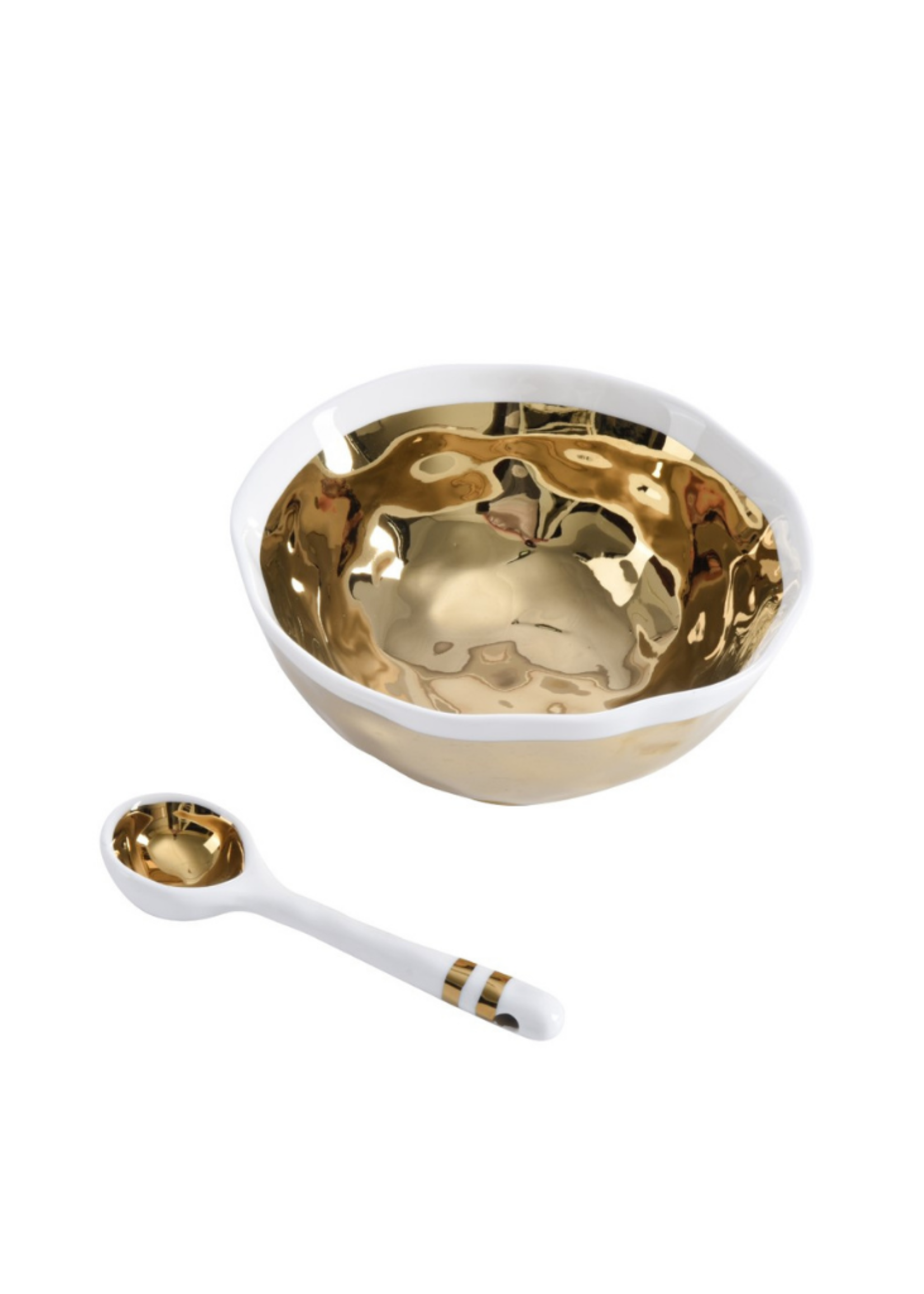 Wavy Bowl Set // Gold