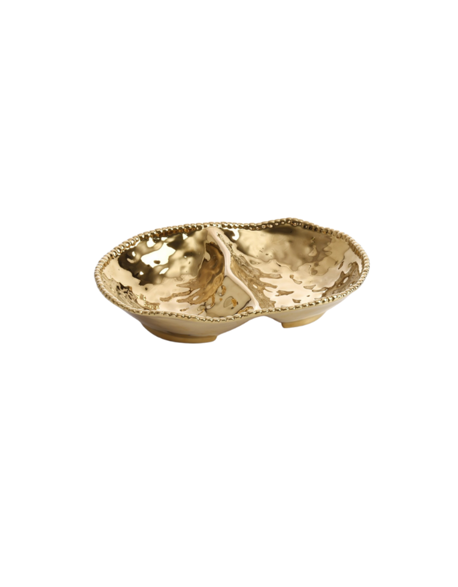 Two Section Gold Serving Bowl
