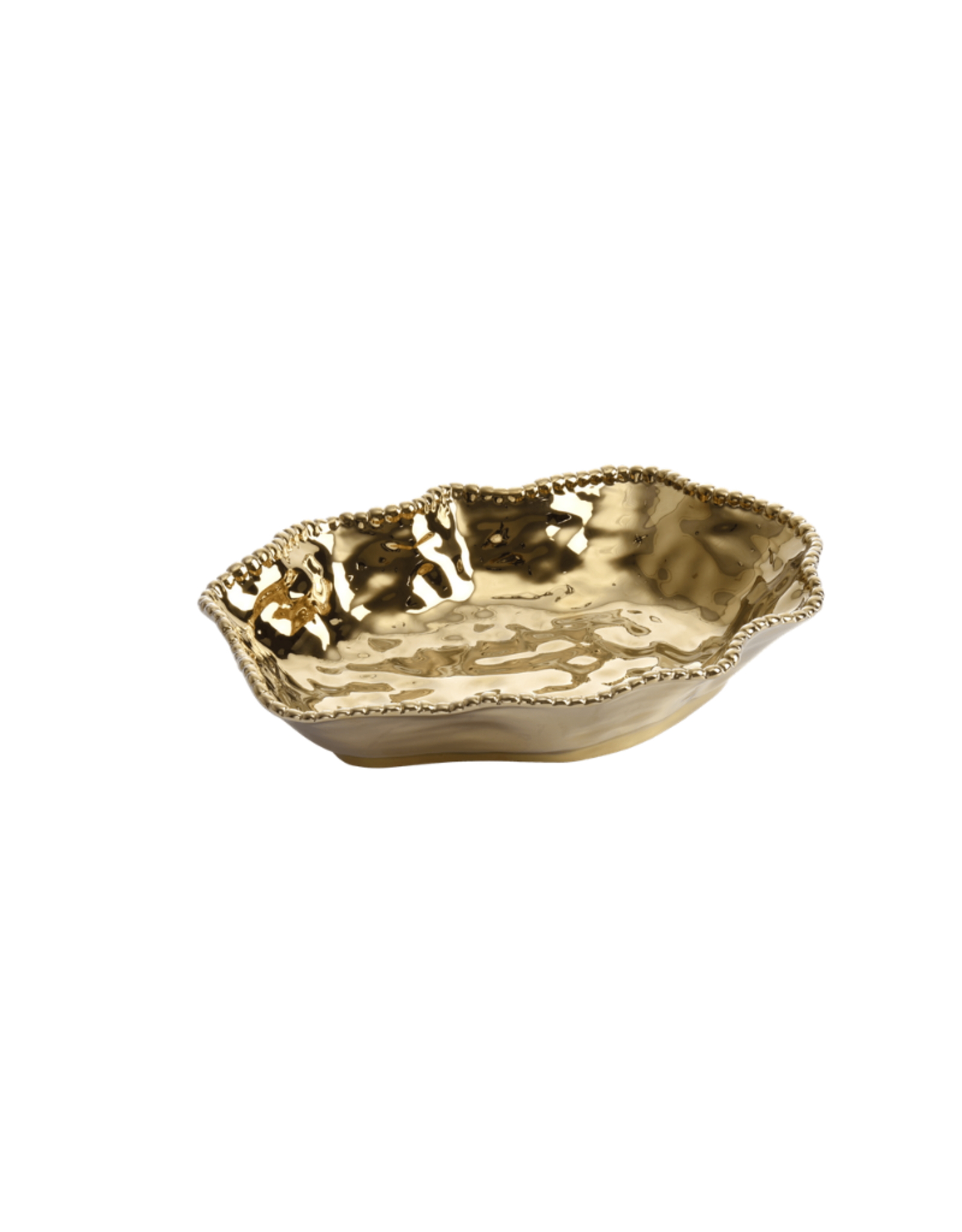 Porcelain Gold Serving Bowl