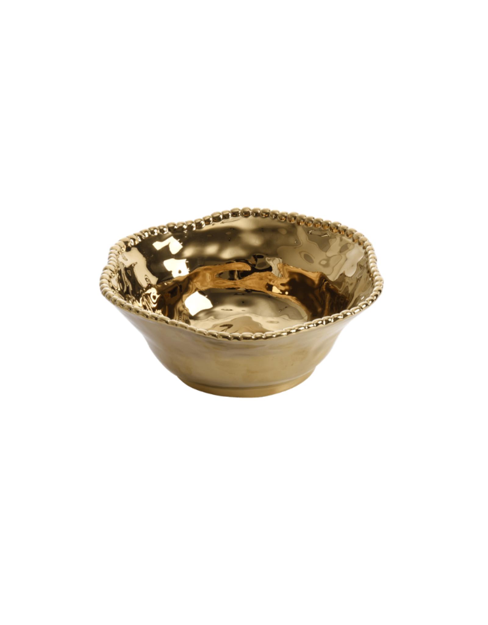 Gold Porcelain Salad Bowl