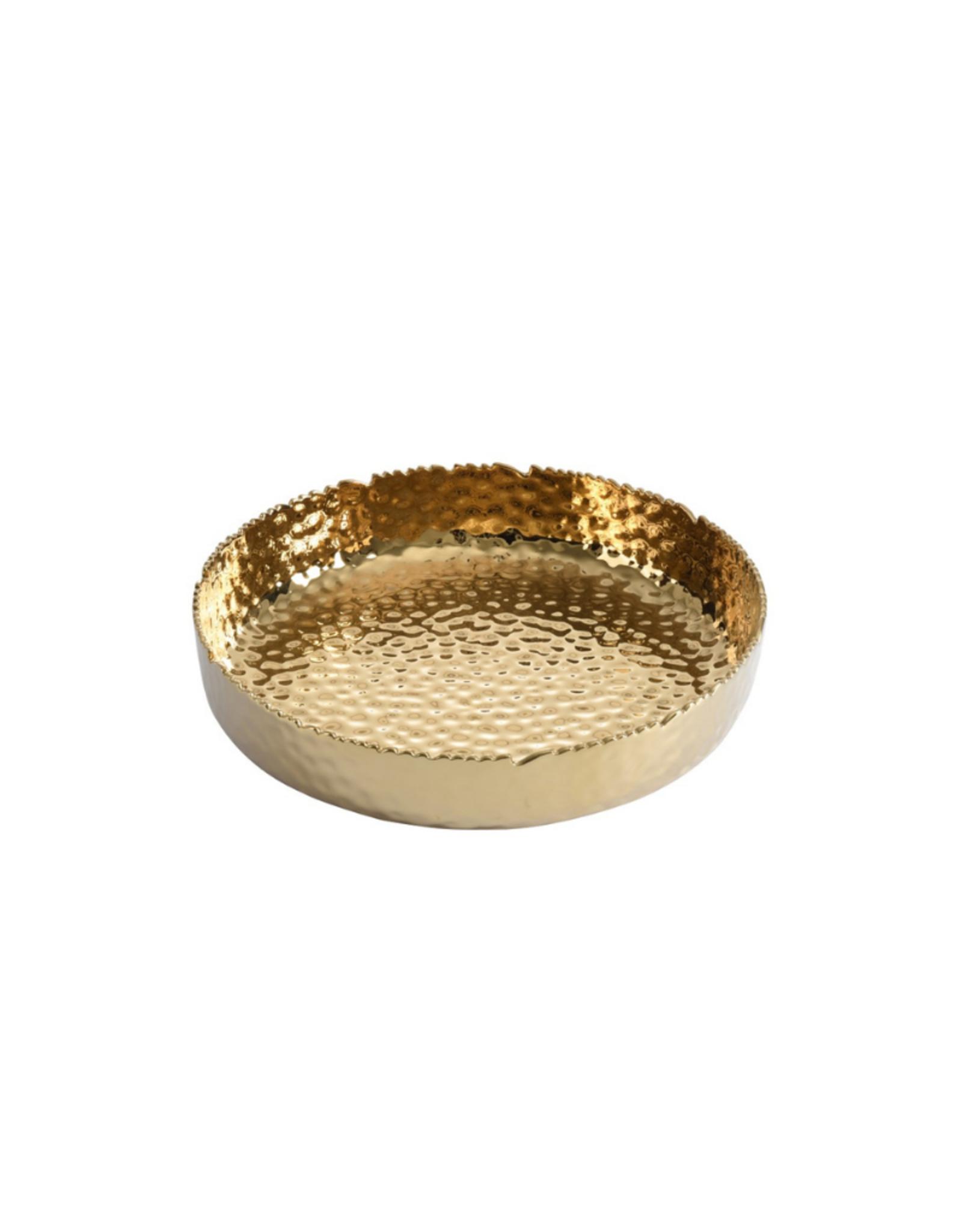 Extra Large Shallow Gold Bowl