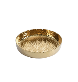 Extra Large Shallow Gold Bowl