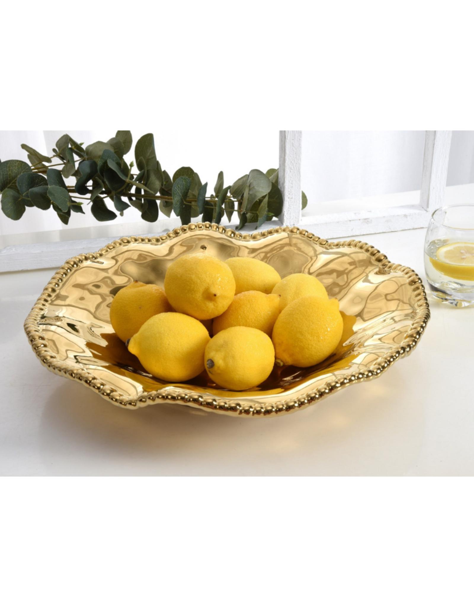 Wavy Gold Serving Platter