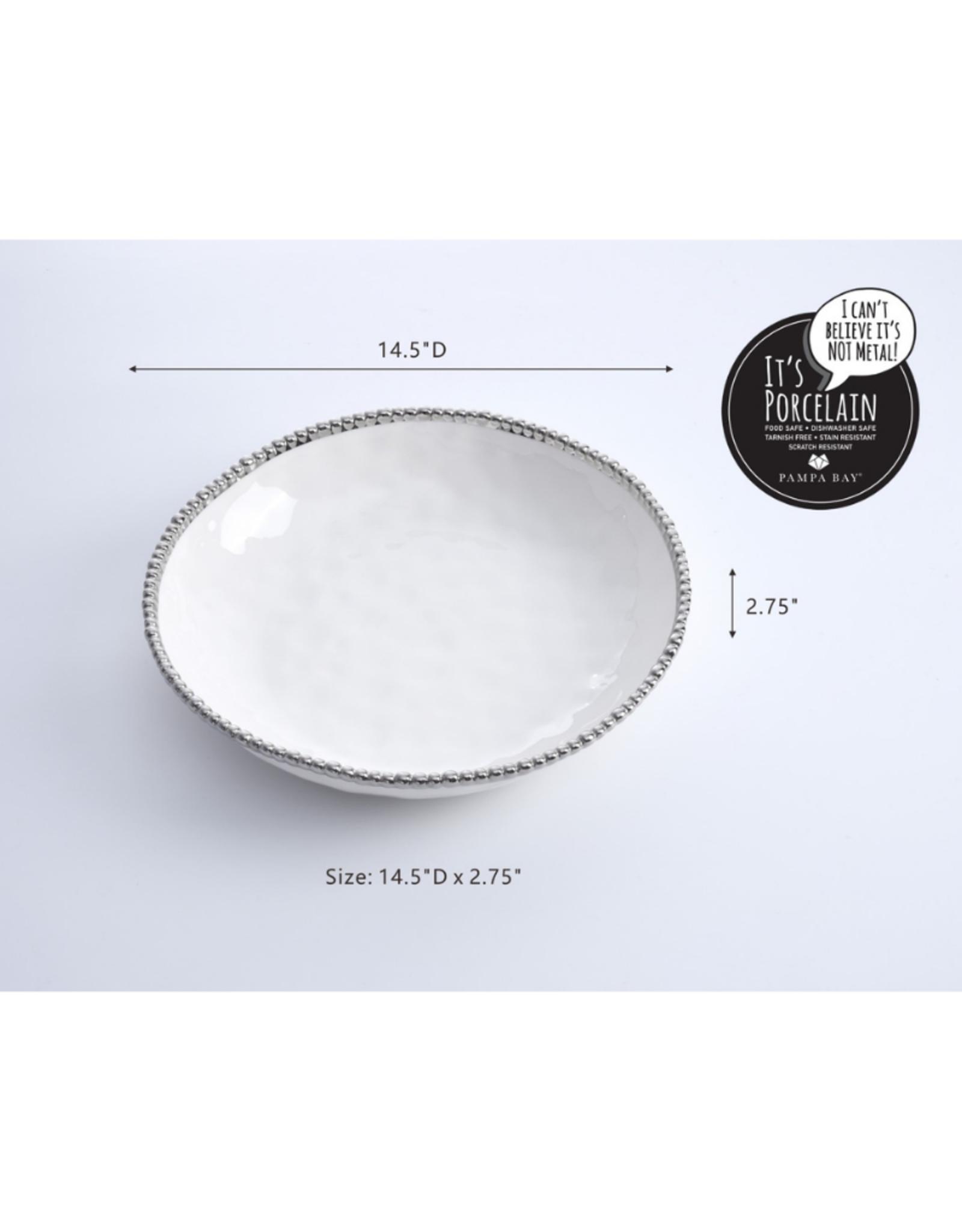 Extra Large White Shallow Bowl