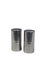 Hammered Barrel Shaped Salt & Pepper Shakers
