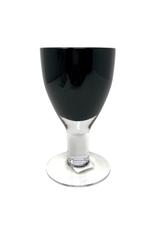 Black Glass Goblet Set of 4