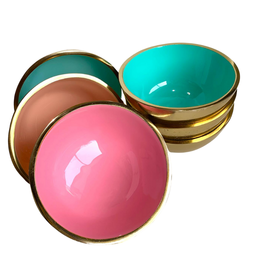 Small Gold Metal Bowl Assorted Colors