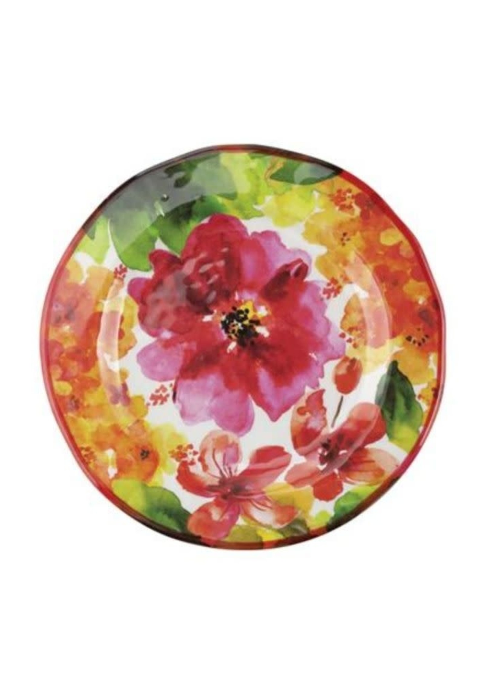 """Pink Floral Plate 9"""""""