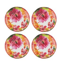 "Supreme Housewares Pink Floral 6"" plate (set 4)"