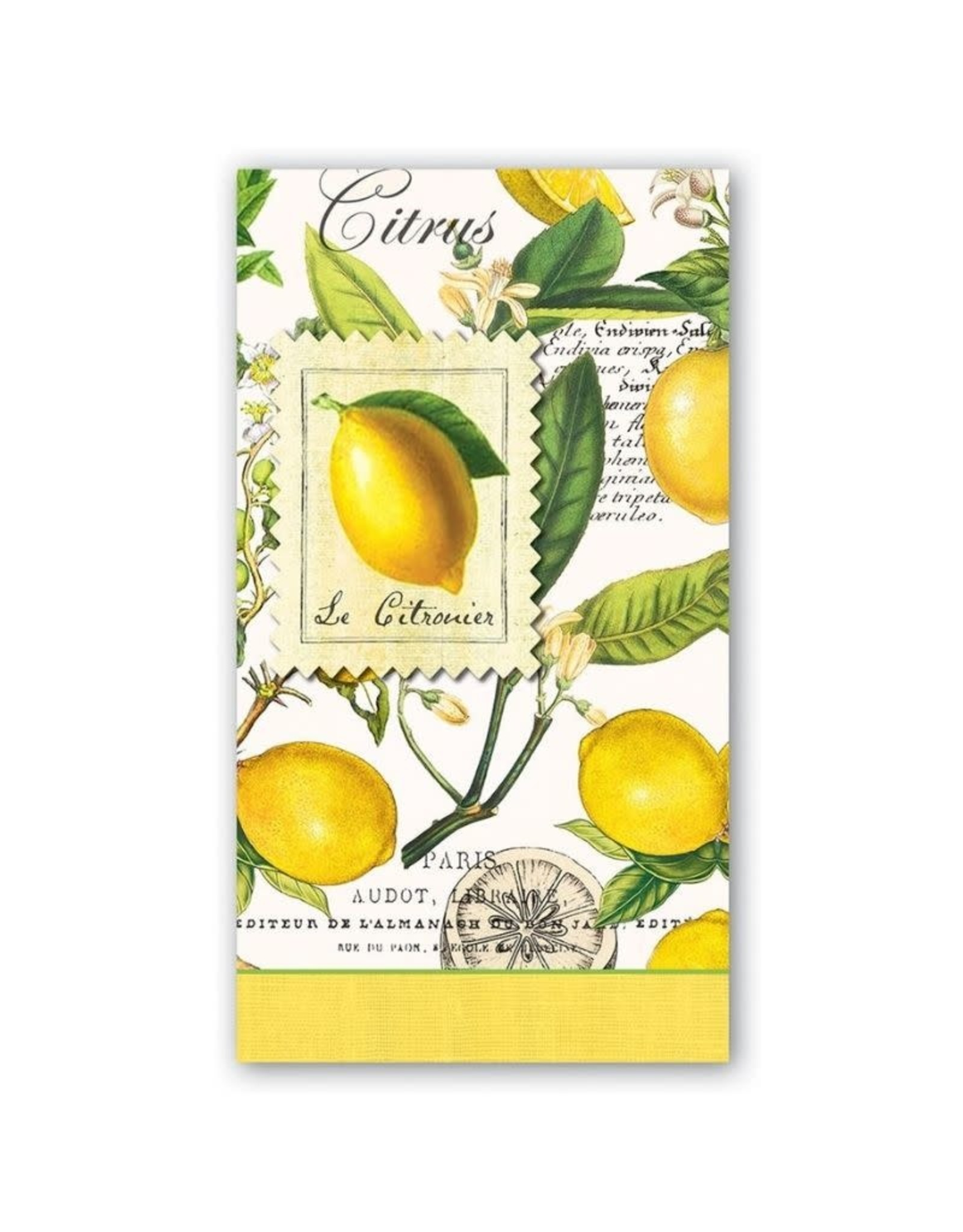 MichelDesign Works Lemon Basil Hostess Napkin