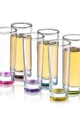 Hue Colored Shot Glass (set of 6) 2oz