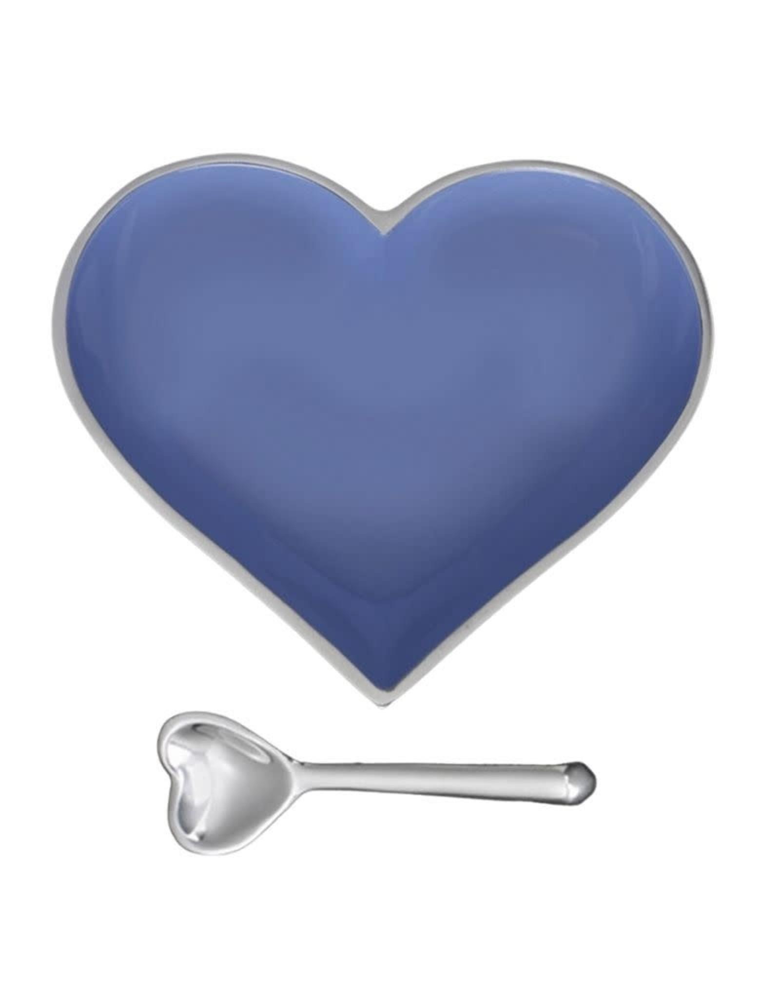 Happy Periwinkle Heart w/Heart Spoon