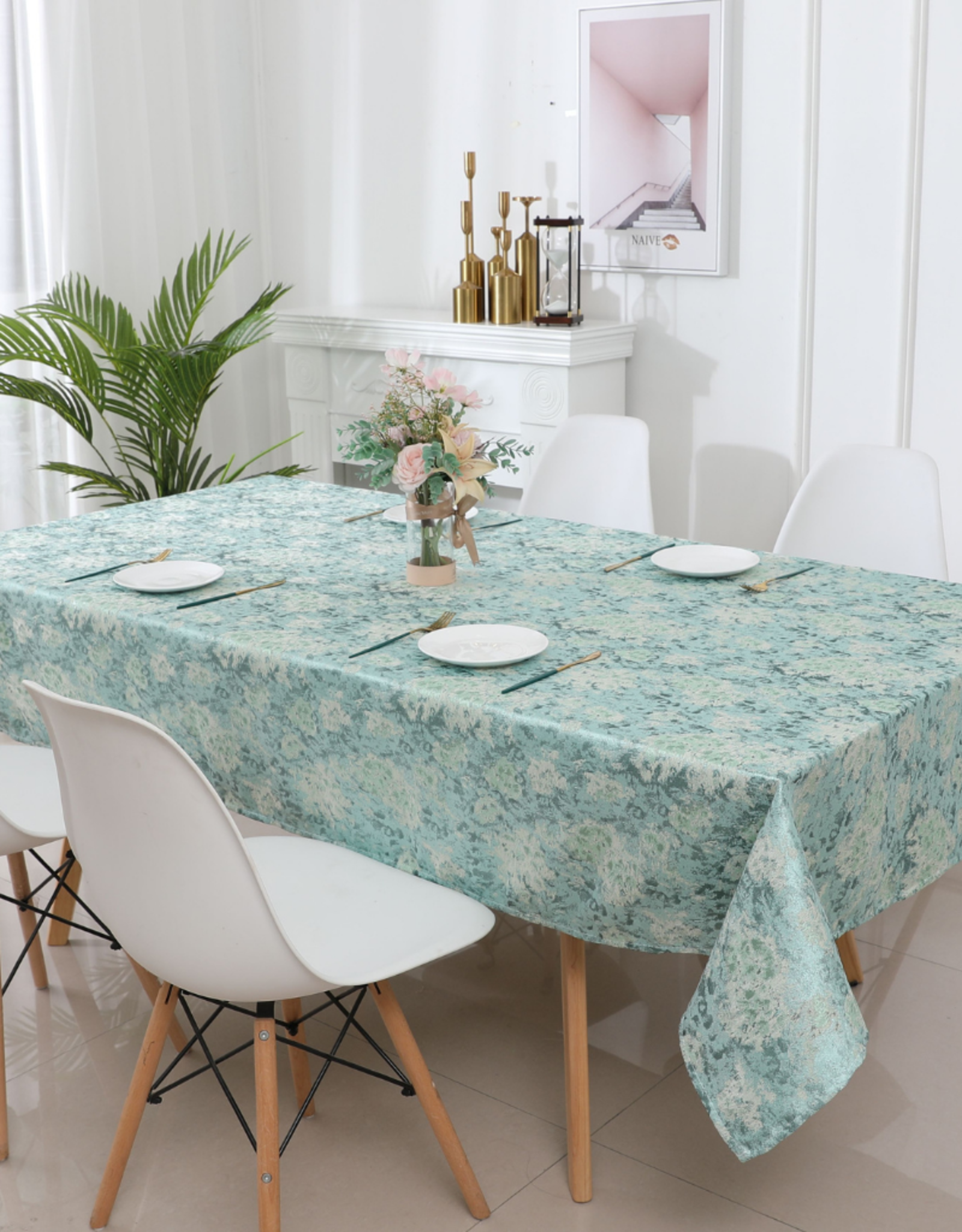 Jacquard Tablecloth Forest Green #1320 SALE