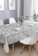 Jacquard Silver Mosaic Tablecloth #1308