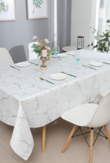 Jacquard White Marble Silver Tablecloth #1306