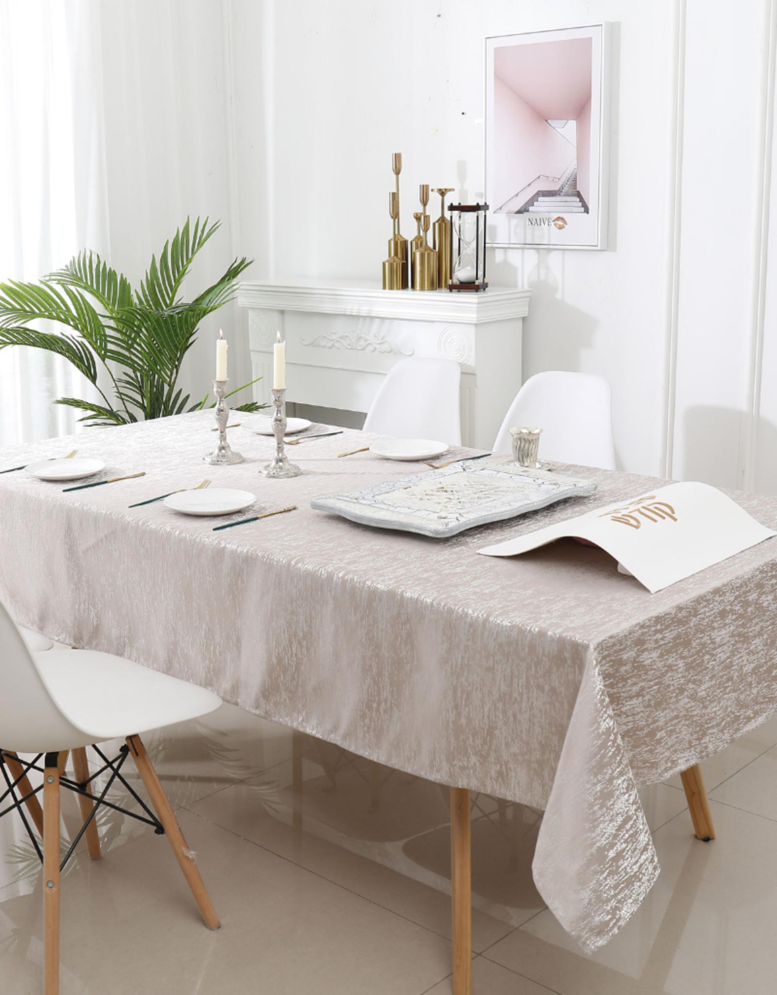 Jacquard Champagne Tablecloth #1323