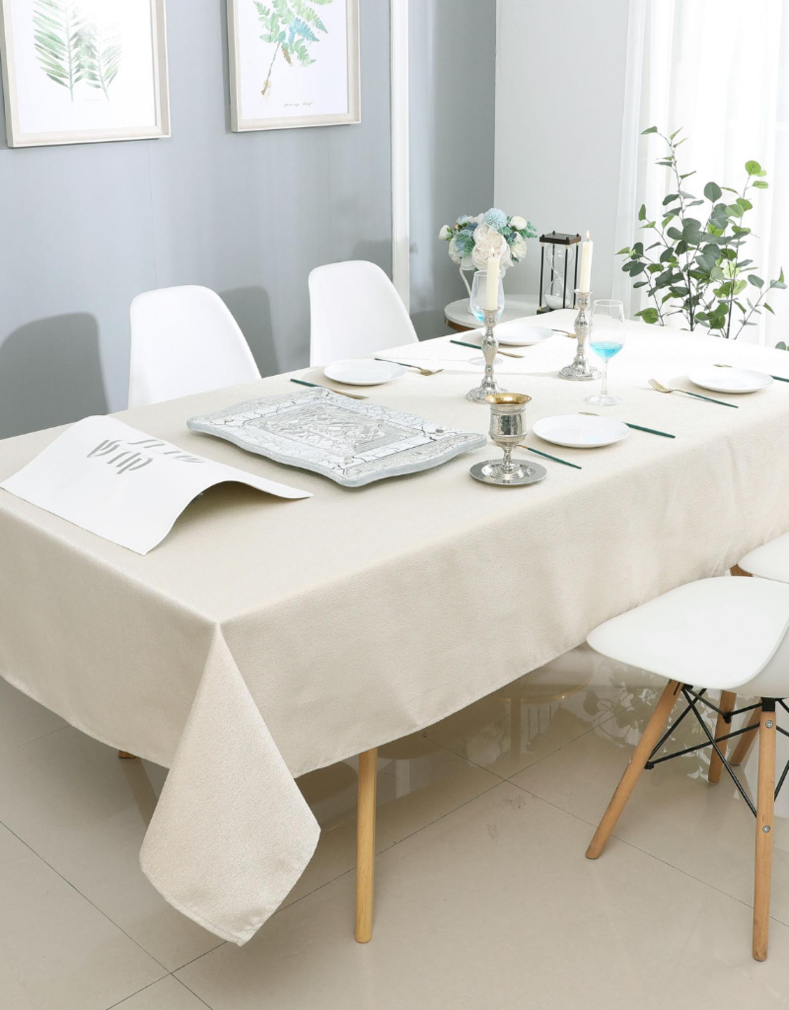 Jacquard Light Beige Tablecloth #1325