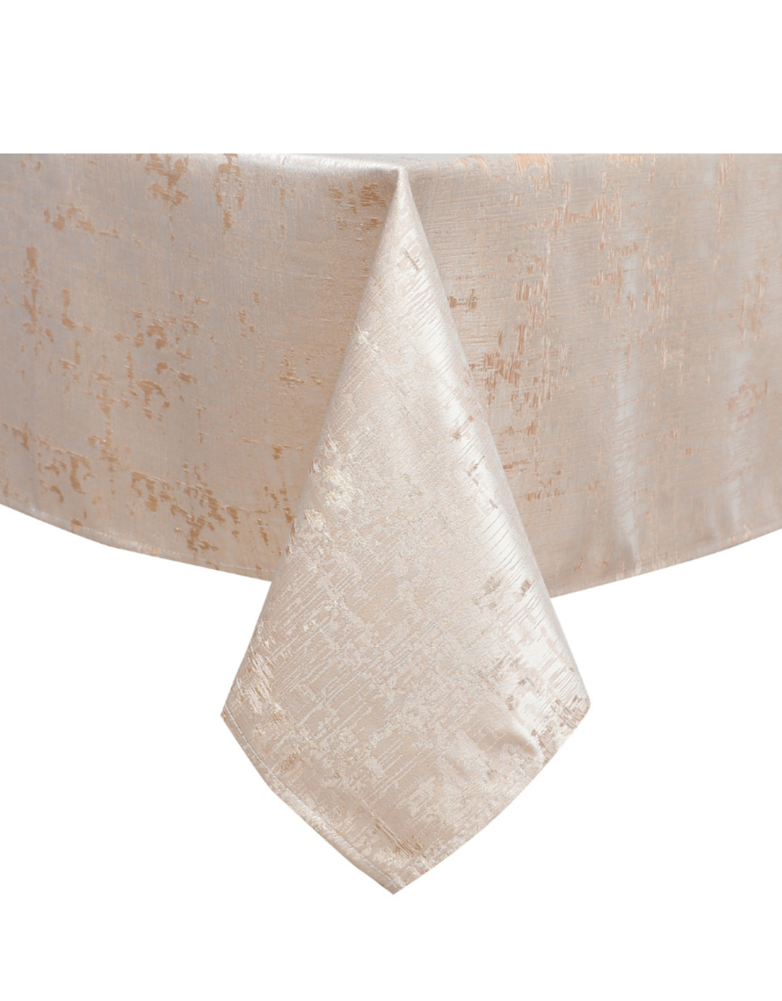 Jacquard Champagne Pink & Gold Tablecloth #1312