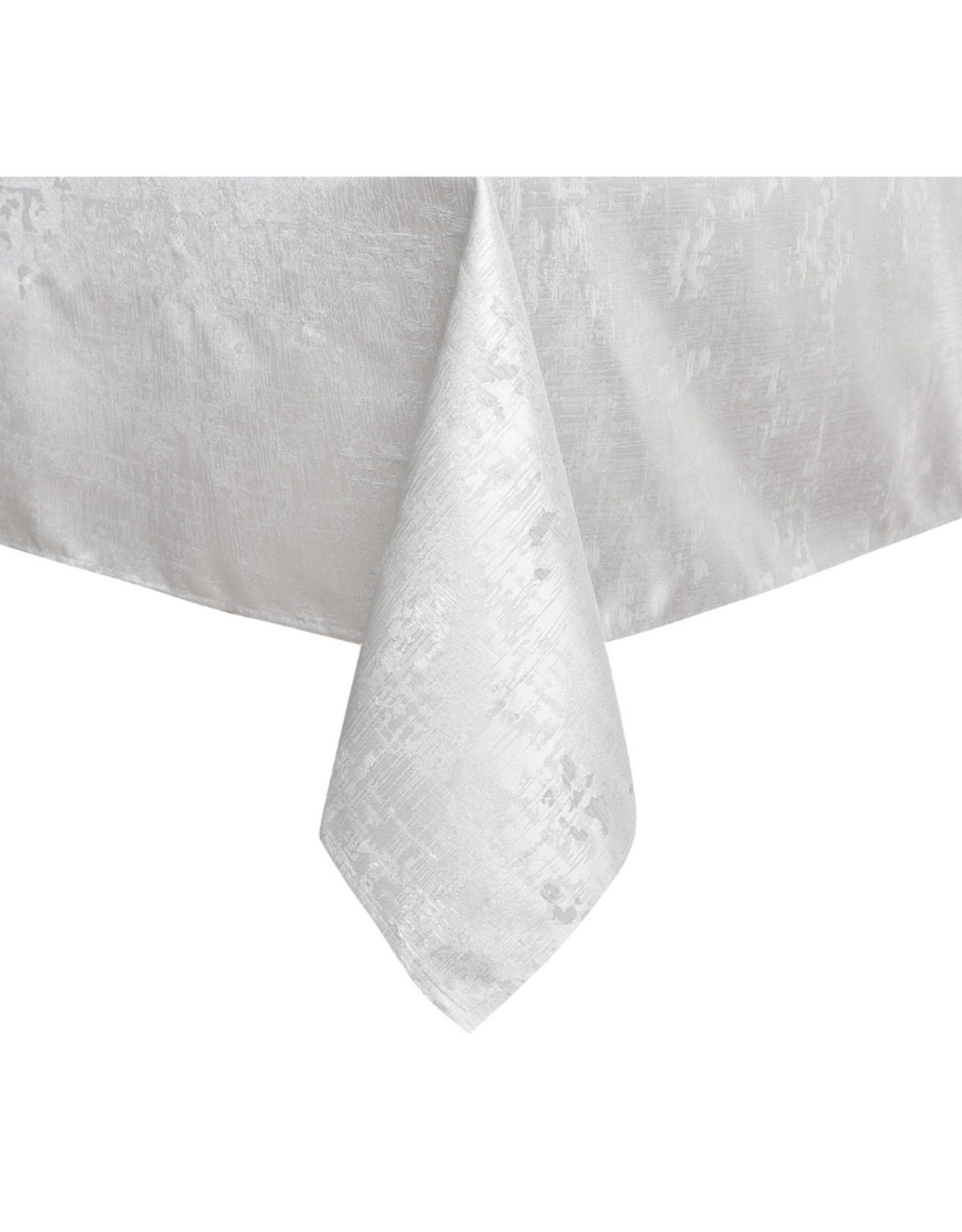Jacquard Abstract White & Silver Tablecloth #1311