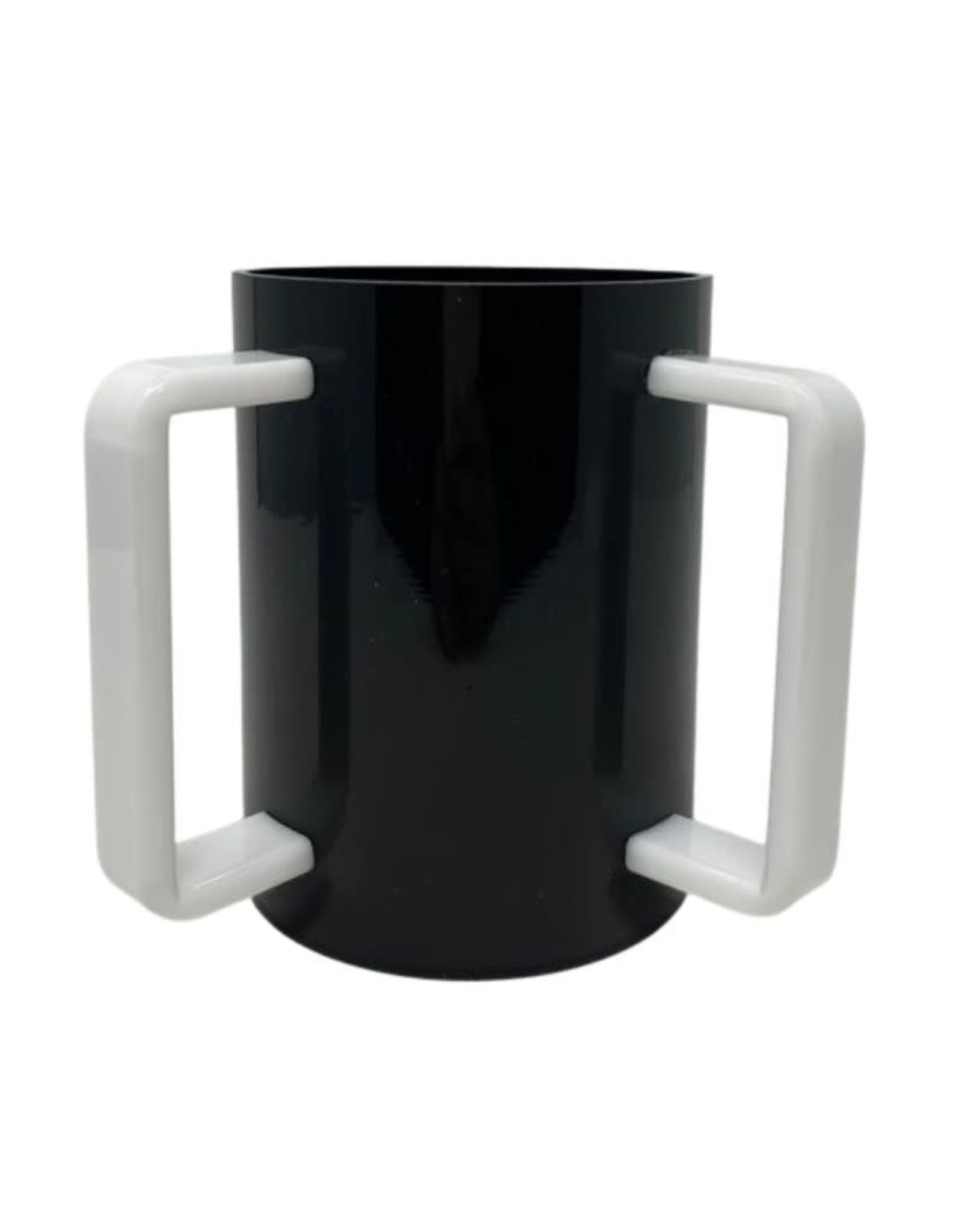 Acrylic Washing Cup Black w White Handles