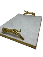Leopard Handle Serving Tray