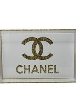 Acrylic Design Tray Gold Chanel Sparkle