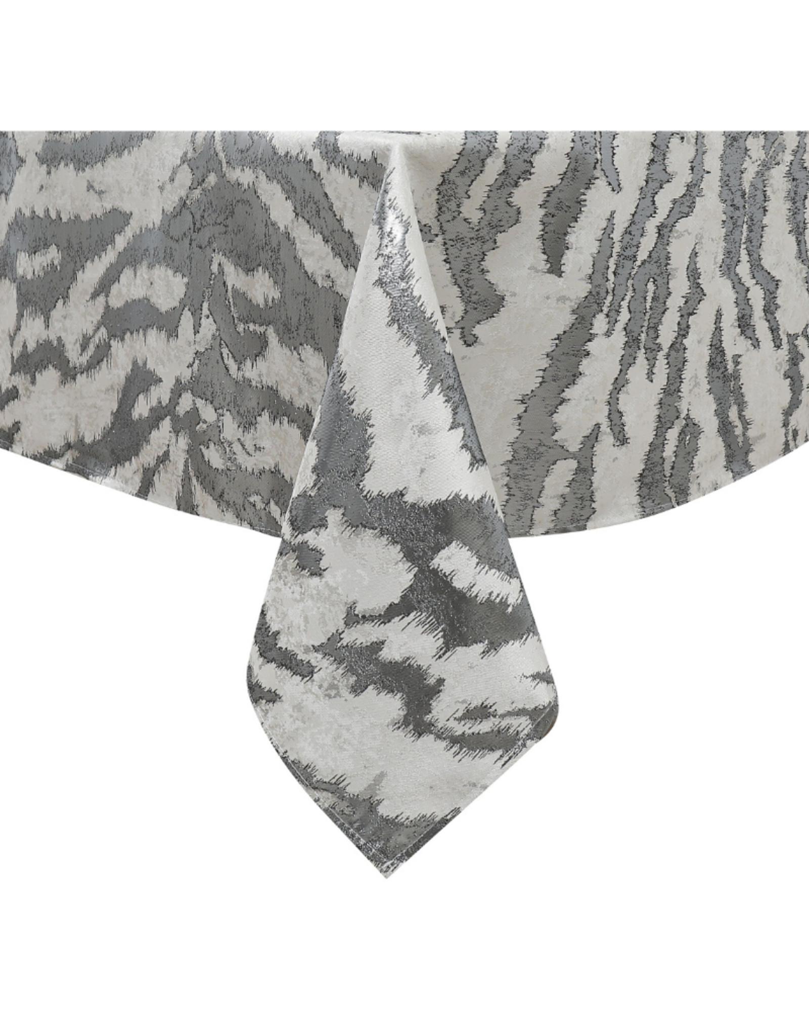 Jacquard Tablecloth White & Silver TC1315