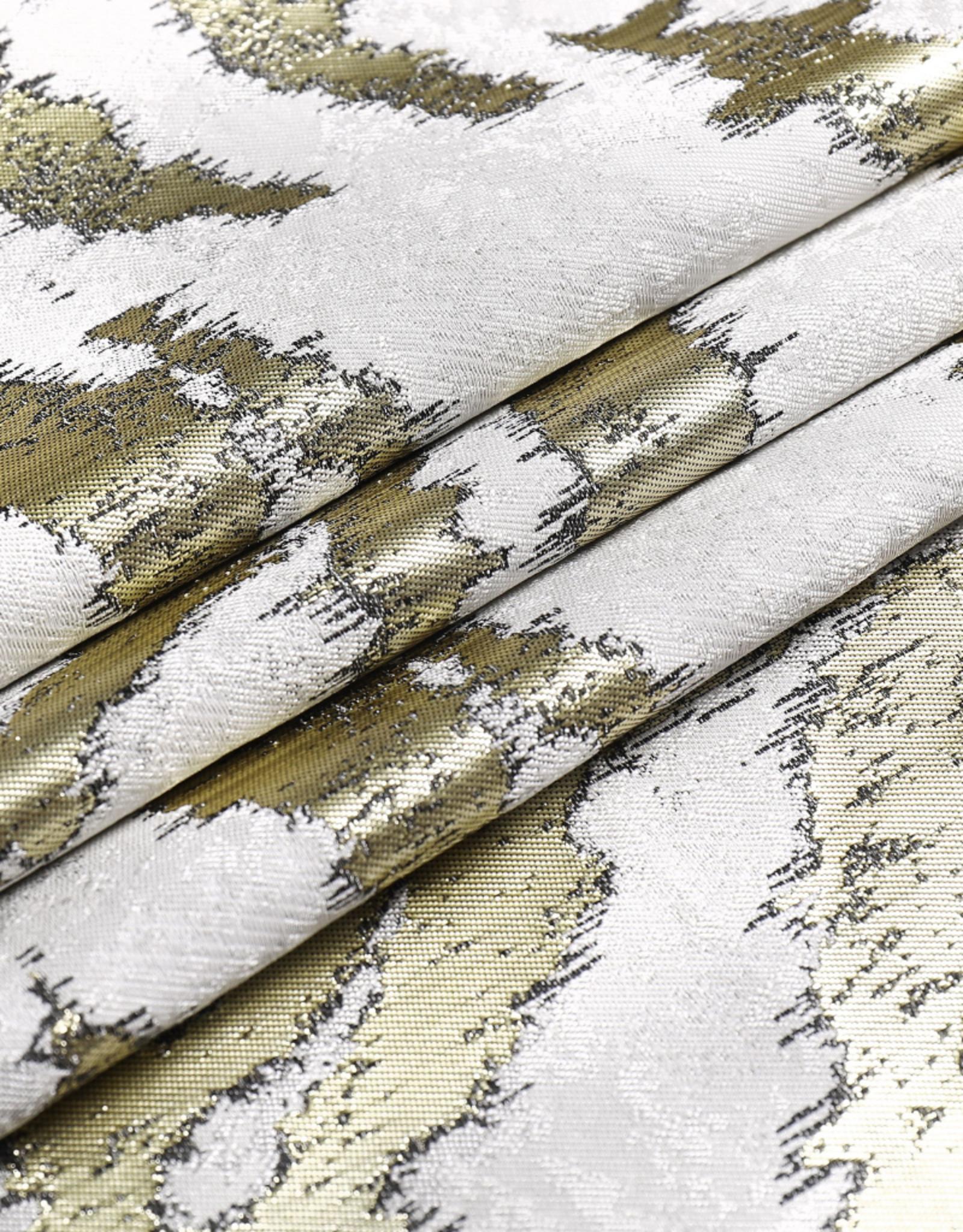 Jacquard Tablecloth White & Gold TC1316