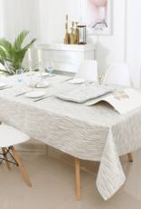 Jacquard Tablecloth White/Silver/Gold TC1318