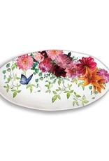 Sweet Floral Melody Melamine Serveware Oval Platter