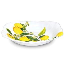 Lemon Basil Melamine Serveware Pasta Bowl