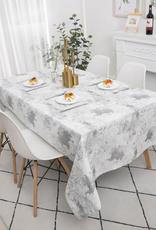 Jacquard Silver Splash Tablecloth #TC1314