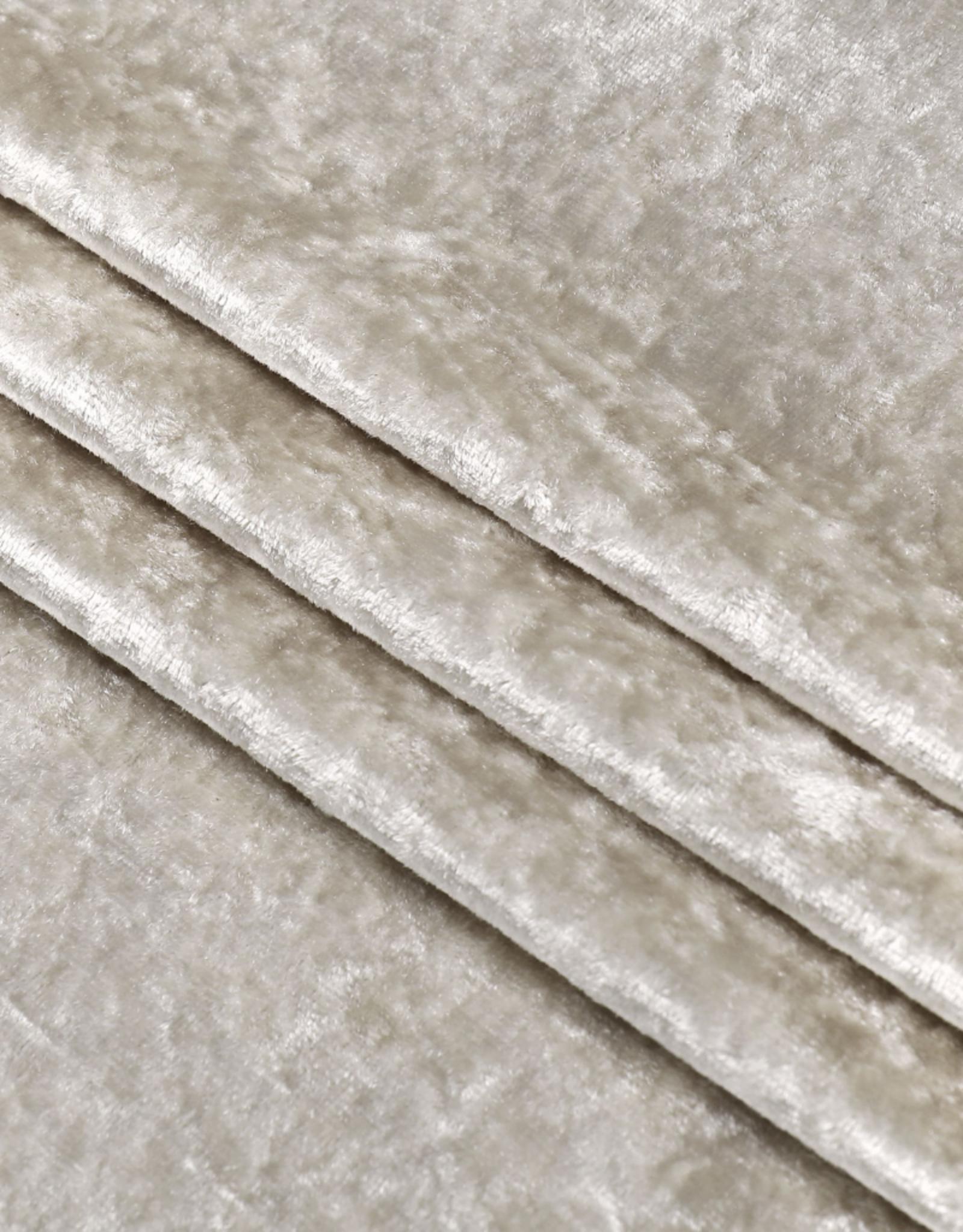 Crushed Velvet Beige Tablecloth #1404