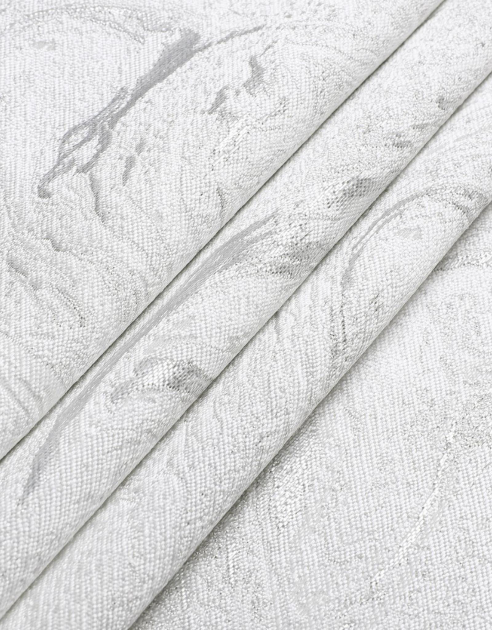 Jacquard White & Silver Wave Tablecloth #1328