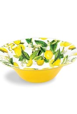 MichelDesign Works Lemon Basil Melamine Serveware Large Bowl