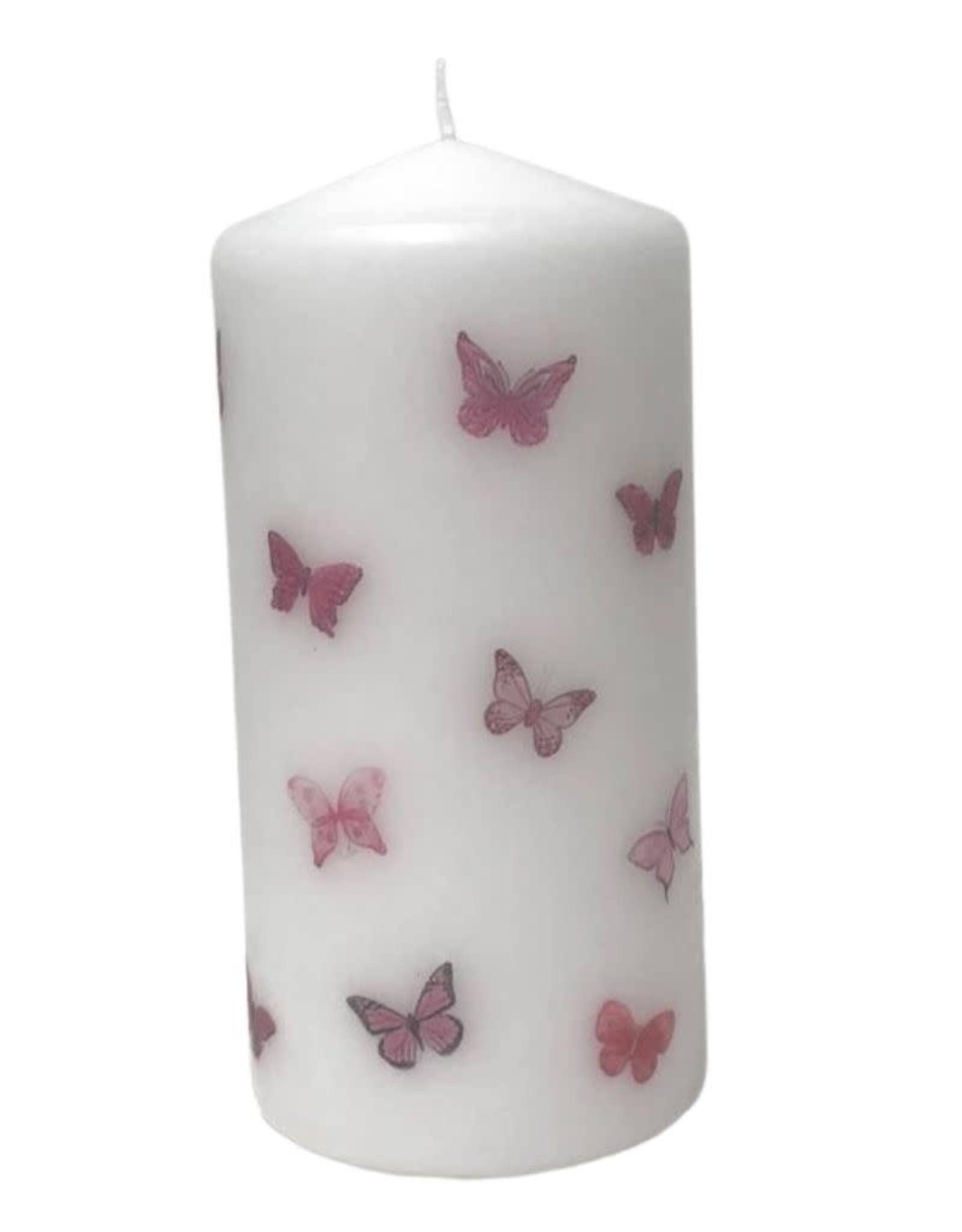 Haute Candles Pink Butterflies