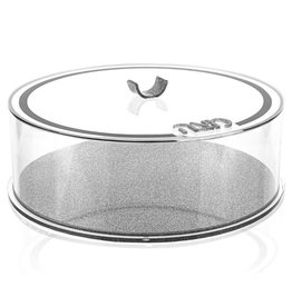 Waterdale Round Matzah Box - Silver