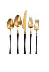 Irene Black & Gold Flatware 20 pc Set
