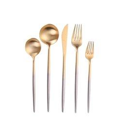 Vera Two Tone Silver & Gold Flatware