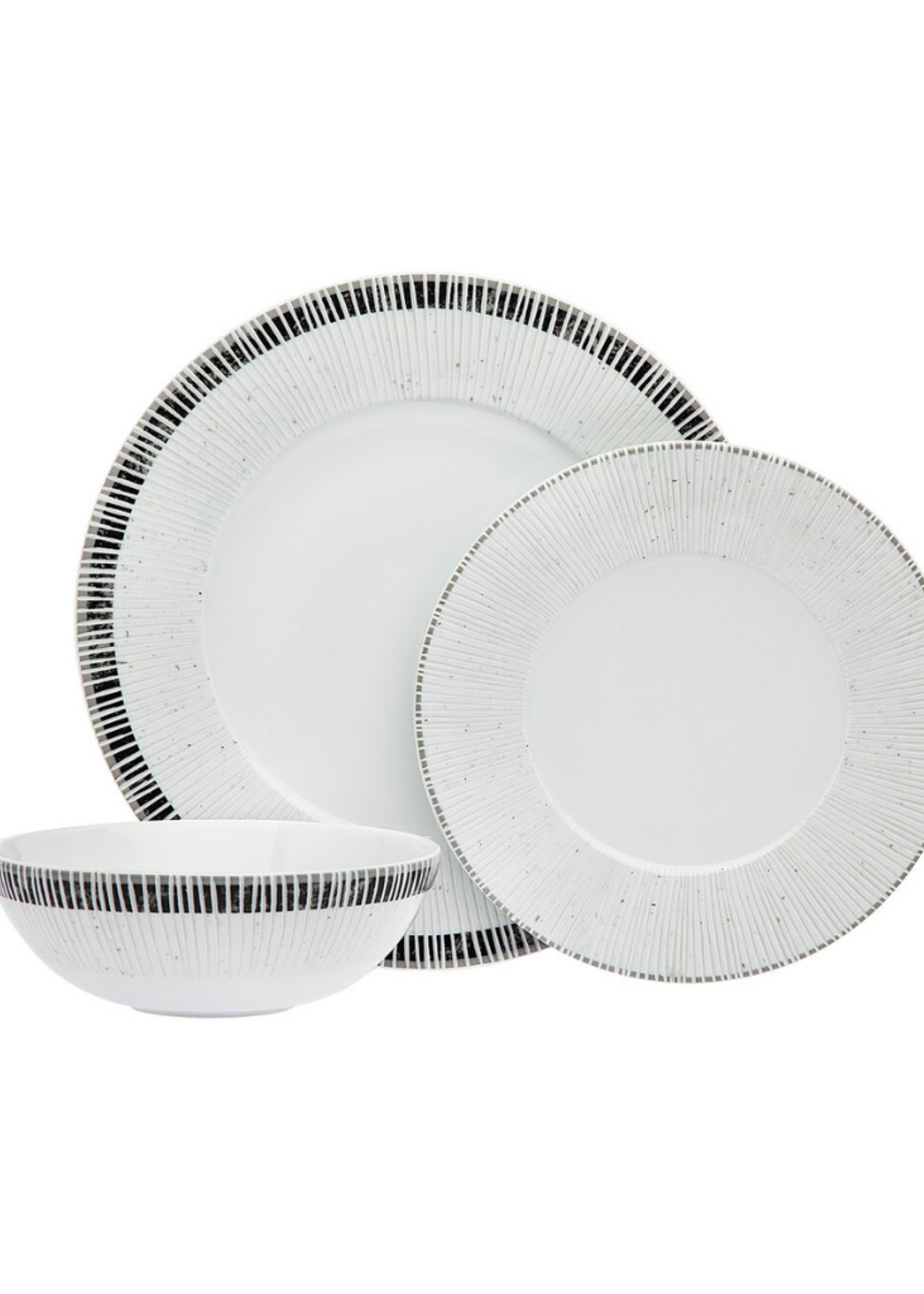 Zebra 3 Piece Dinnerware Setting