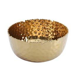 Large Round Bowl- Gold