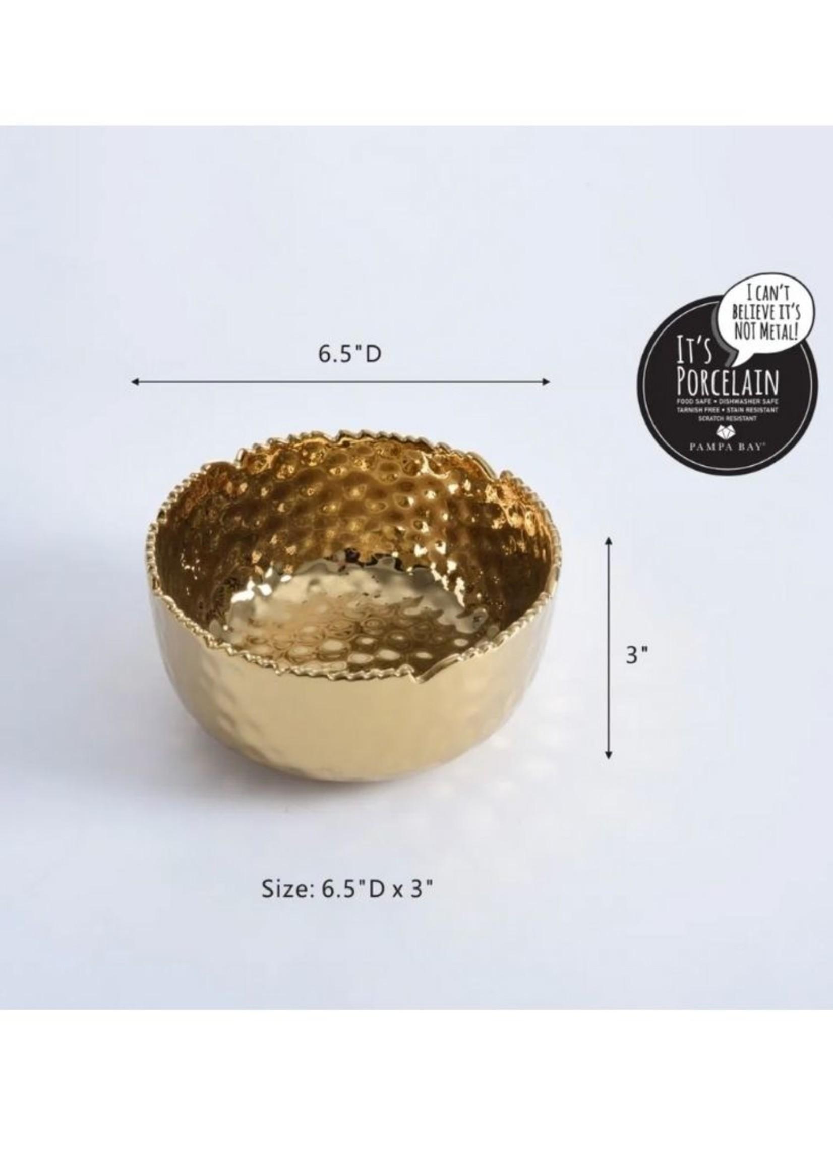 Medium Round Gold Bowl