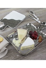 Small Porcelain Tray White & Silver
