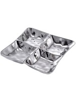 4 Section Square Server-Silver