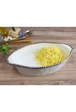 Pampa Bay Oval Baking Dish- White/Silver