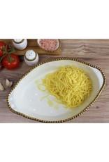 Pampa Bay Oval Baking Dish- White/Gold