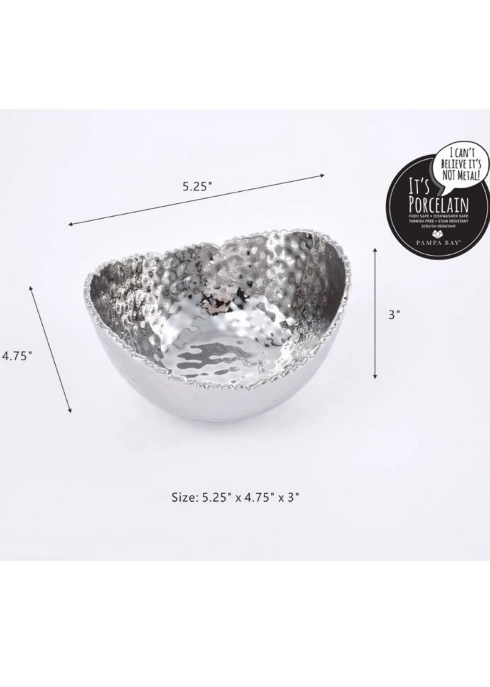 Small Oval Bowl- Silver
